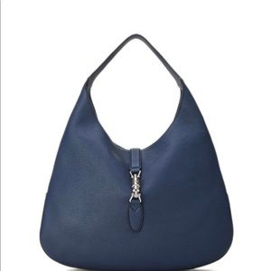 GUCCI Jackie, leather hobo bag with zip pouch.